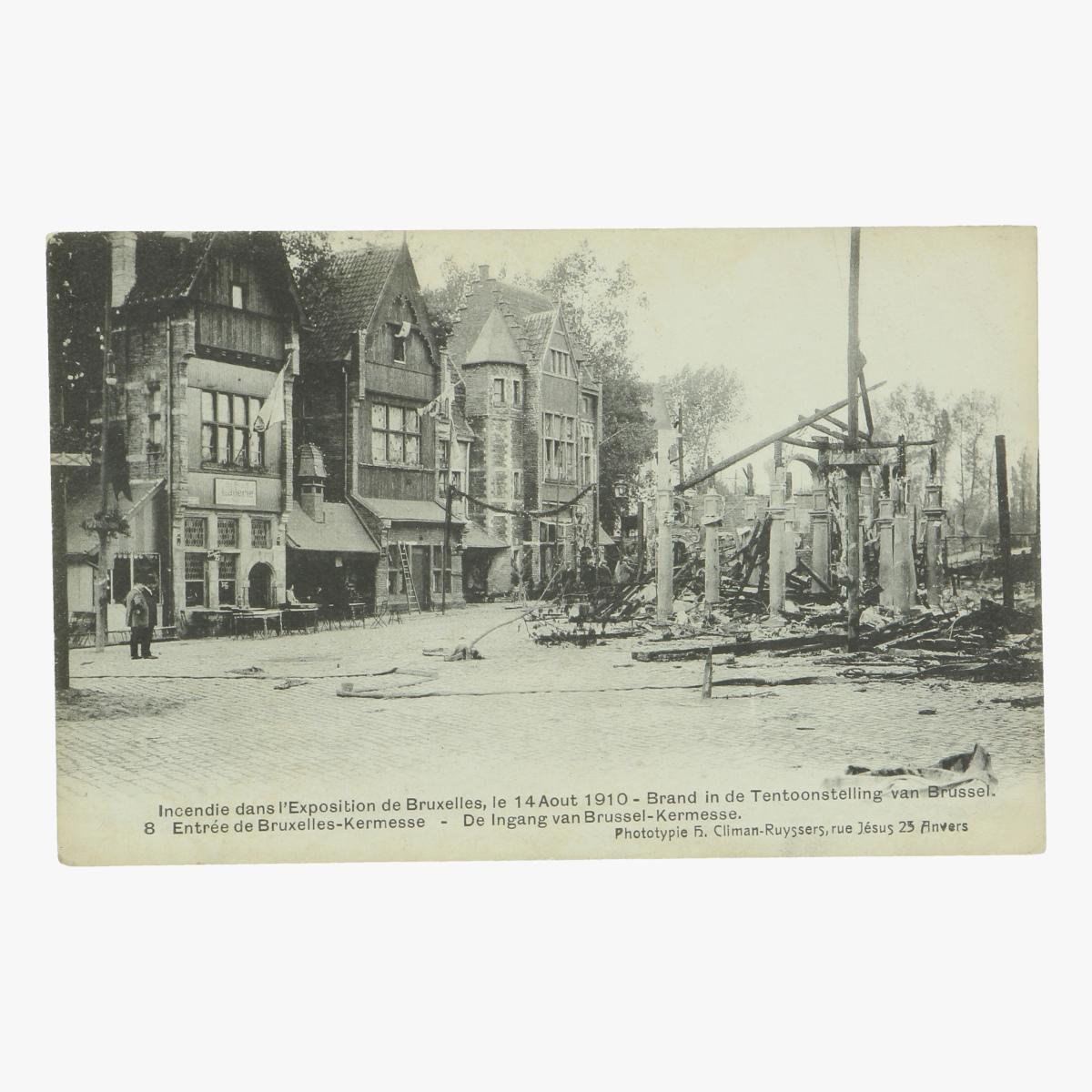 Afbeeldingen van postkaart bruxelles exposition 1910 de ingang van brussel kermesse