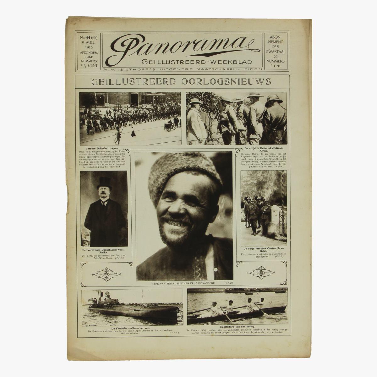 Afbeeldingen van oude weekblad panorama N°64  9 aug. 1915