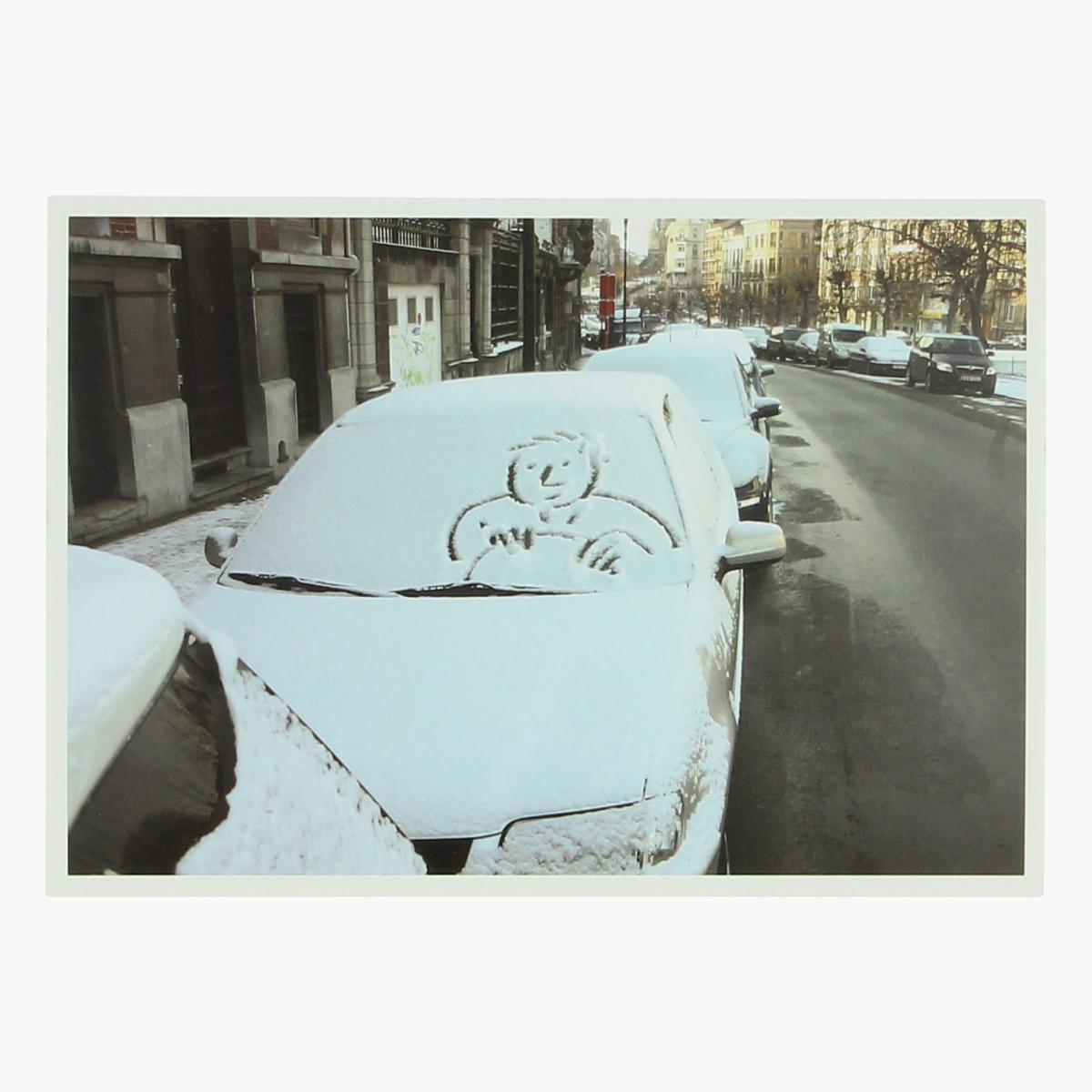 Afbeeldingen van postkaart auto neige