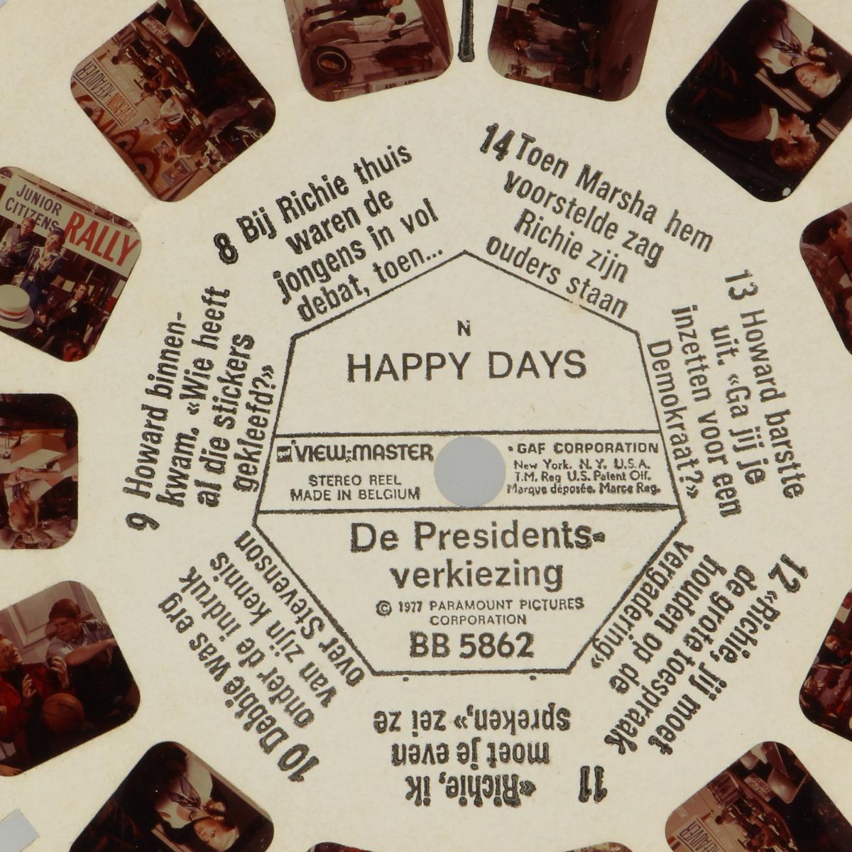 Afbeeldingen van View-master Happy days de presidentsverkiezing BB5862