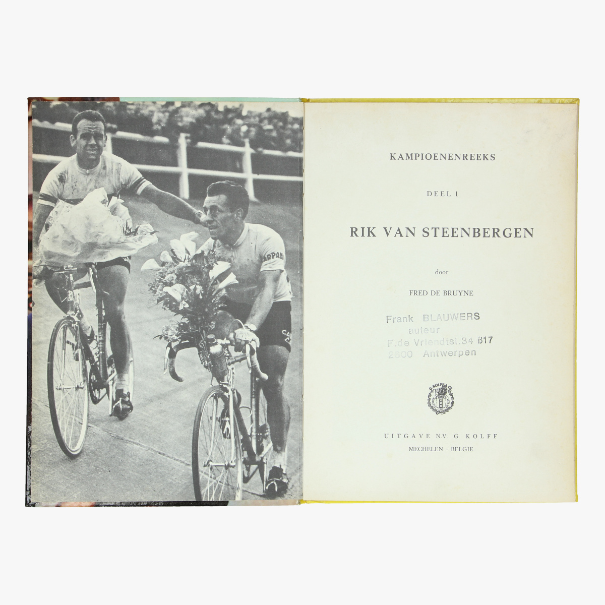 Afbeeldingen van boek Rik Van Steenbergen door Fred De Bruyne
