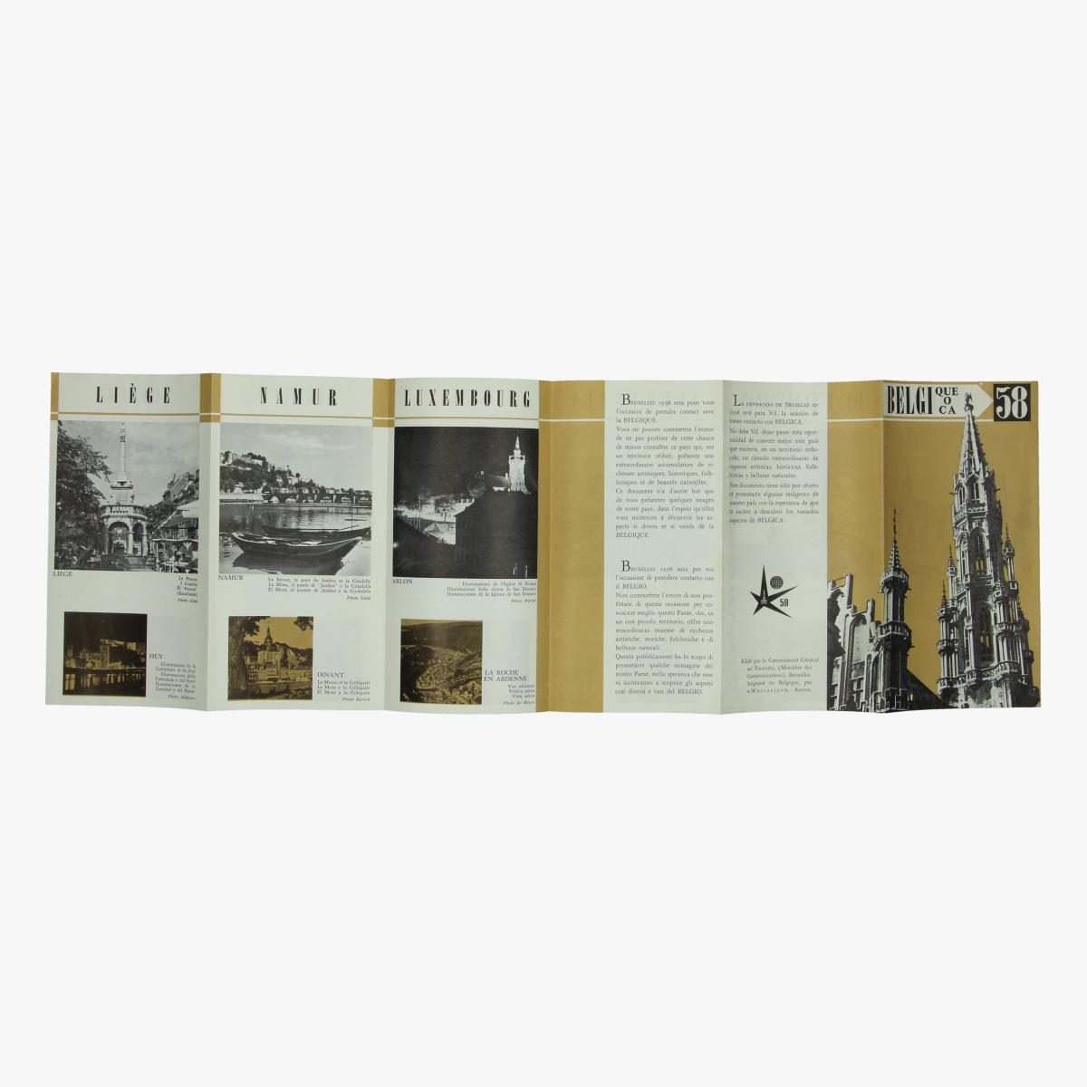 Afbeeldingen van expo 58 folder belgique overzicht belgie