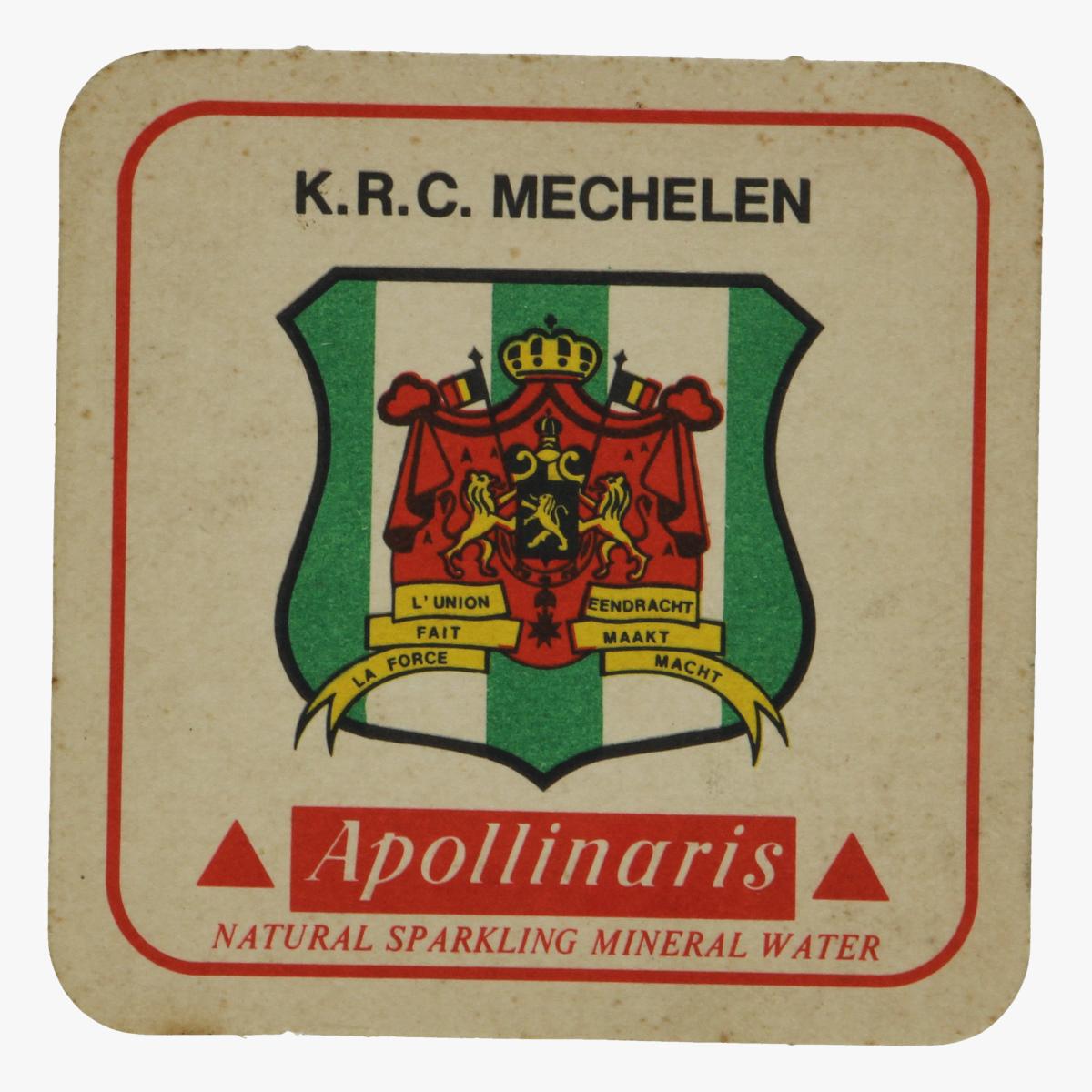 Afbeeldingen van bierkaartje k.r.c. mechelen apollinaris
