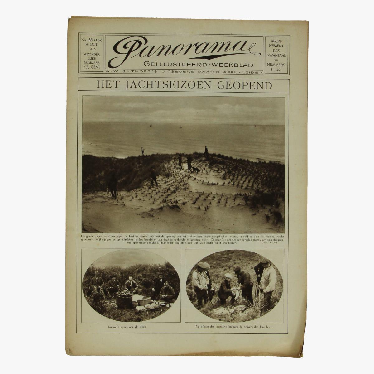 Afbeeldingen van oude weekblad panorama N°83 14 Oct 1915