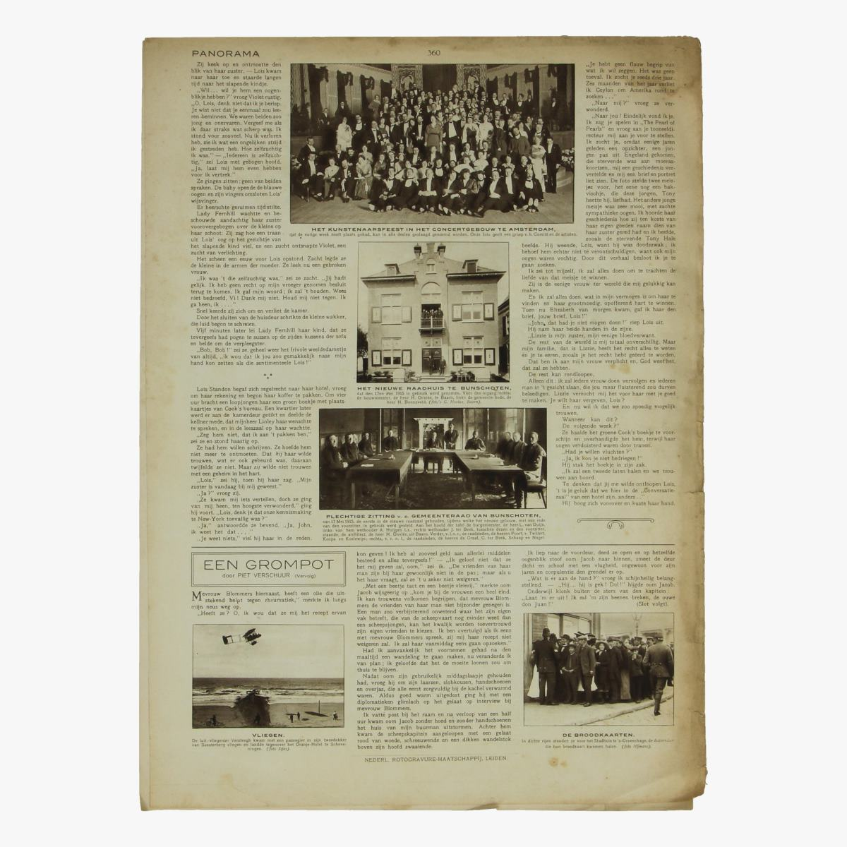 Afbeeldingen van oude weekblad panorama N°45  3 juni 1915