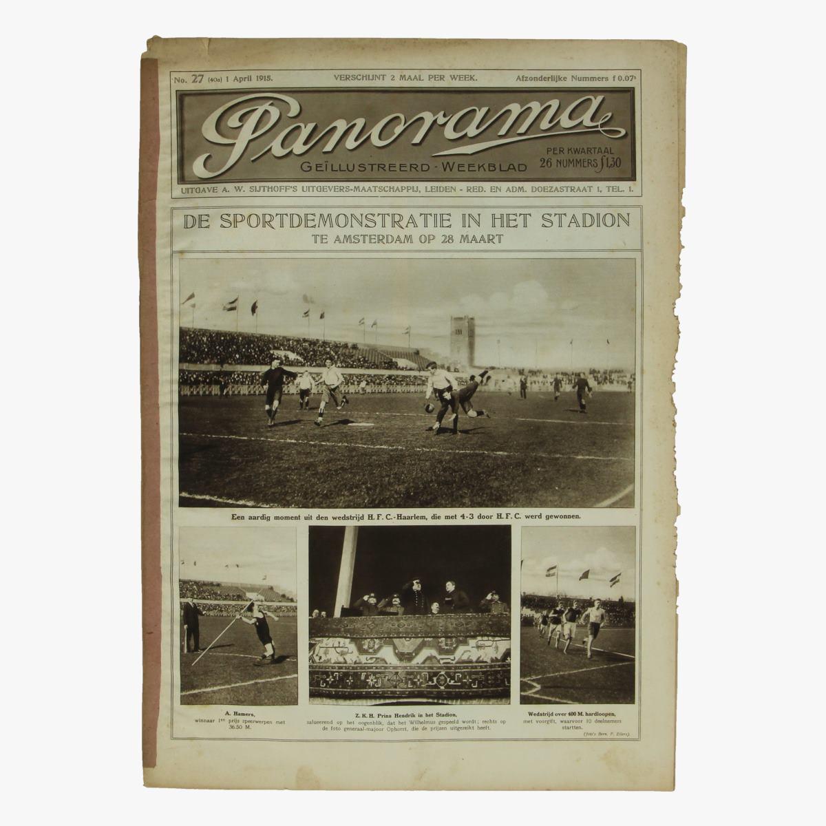 Afbeeldingen van oude weekblad panorama N°27  1april 1915.
