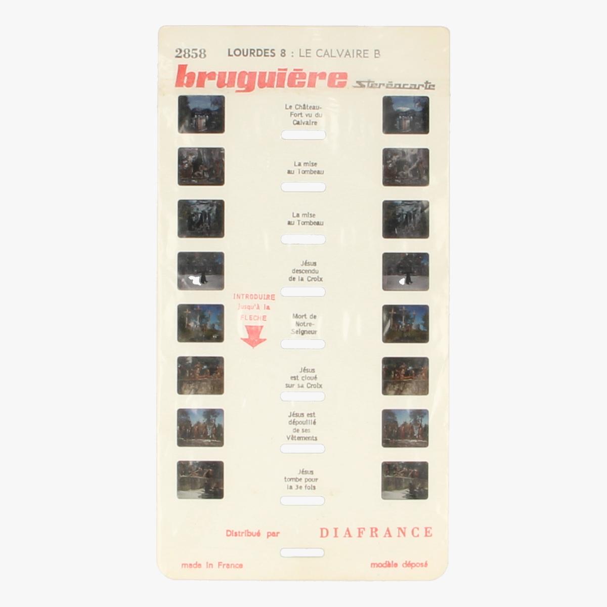 Afbeeldingen van View-Master Bruguière stéréocarte Lourdes. Nr. 1,4,6,8,15,17 en 18