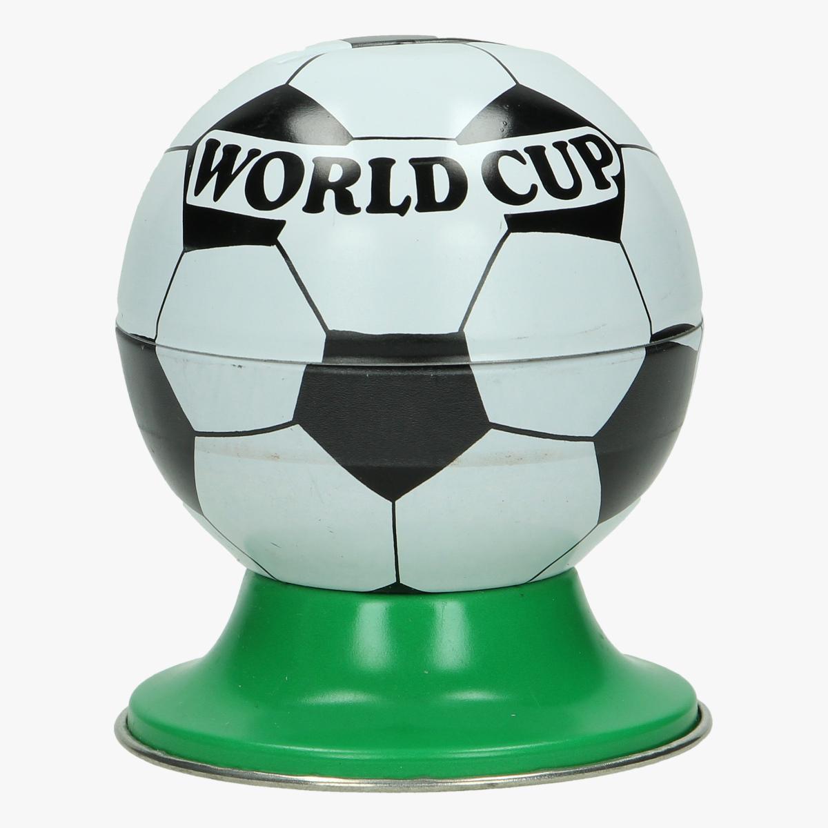 Afbeeldingen van blikken voetbal spaarpot worldcup repro