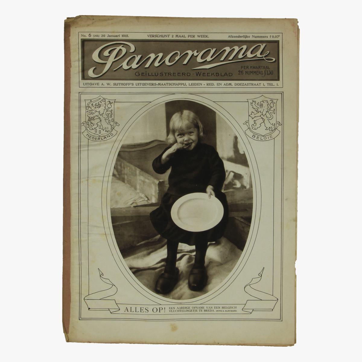 Afbeeldingen van oude weekblad panorama N°6  20 jan 1915