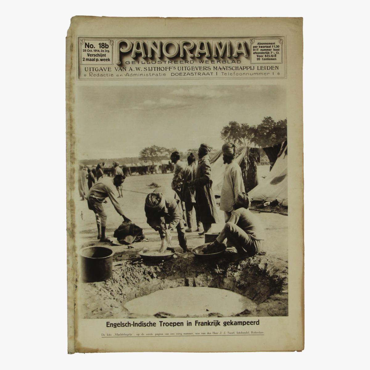 Afbeeldingen van oude weekblad panorama N°18b  28 oct. 1914