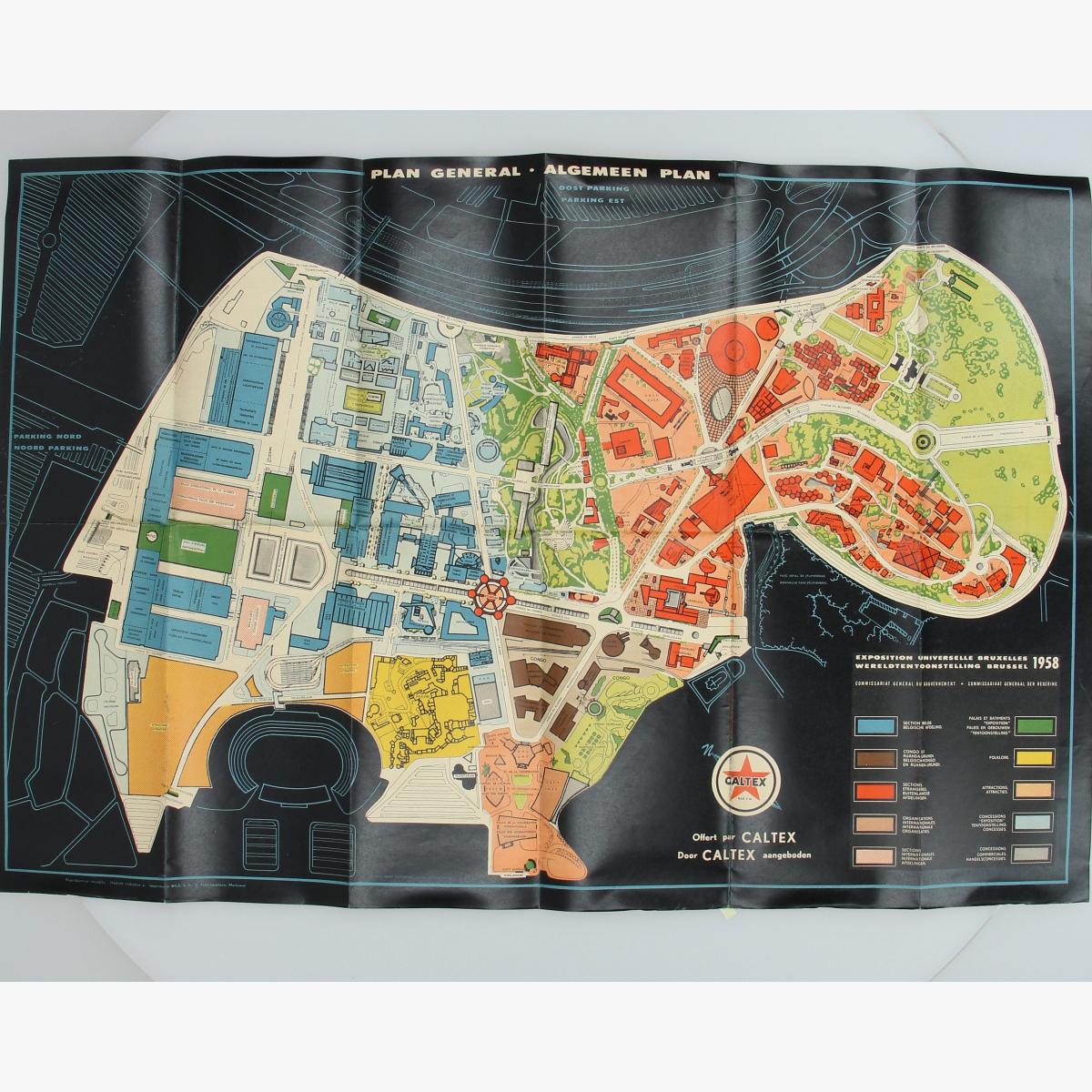 Afbeeldingen van expo 58 plan general - algemeen plan door caltex aangeboden