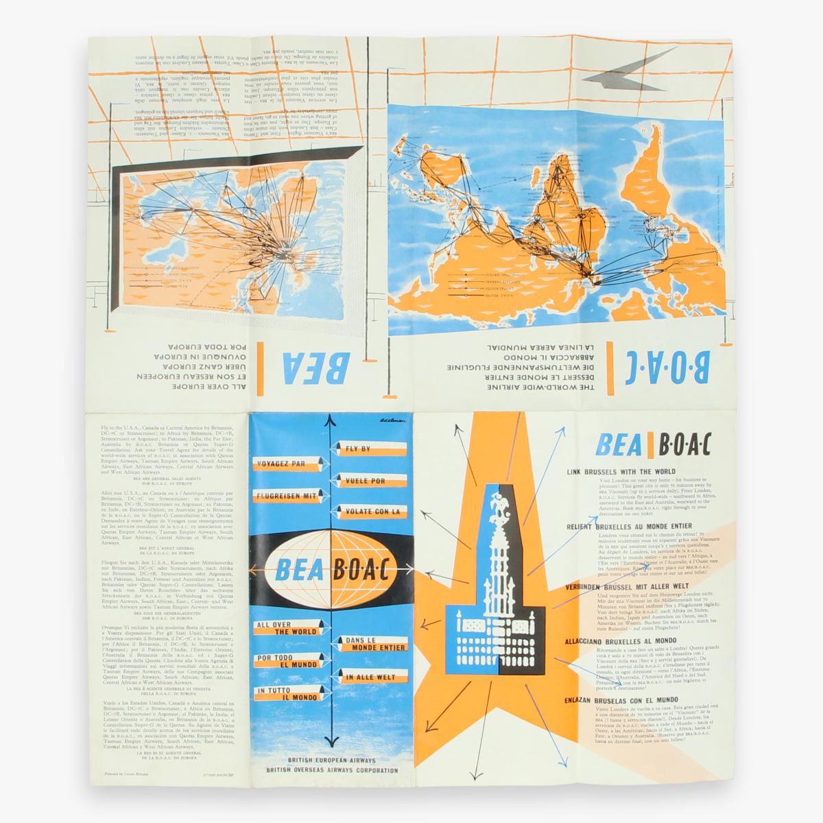 Afbeeldingen van fleyer British european airways - british overseas airways corporation