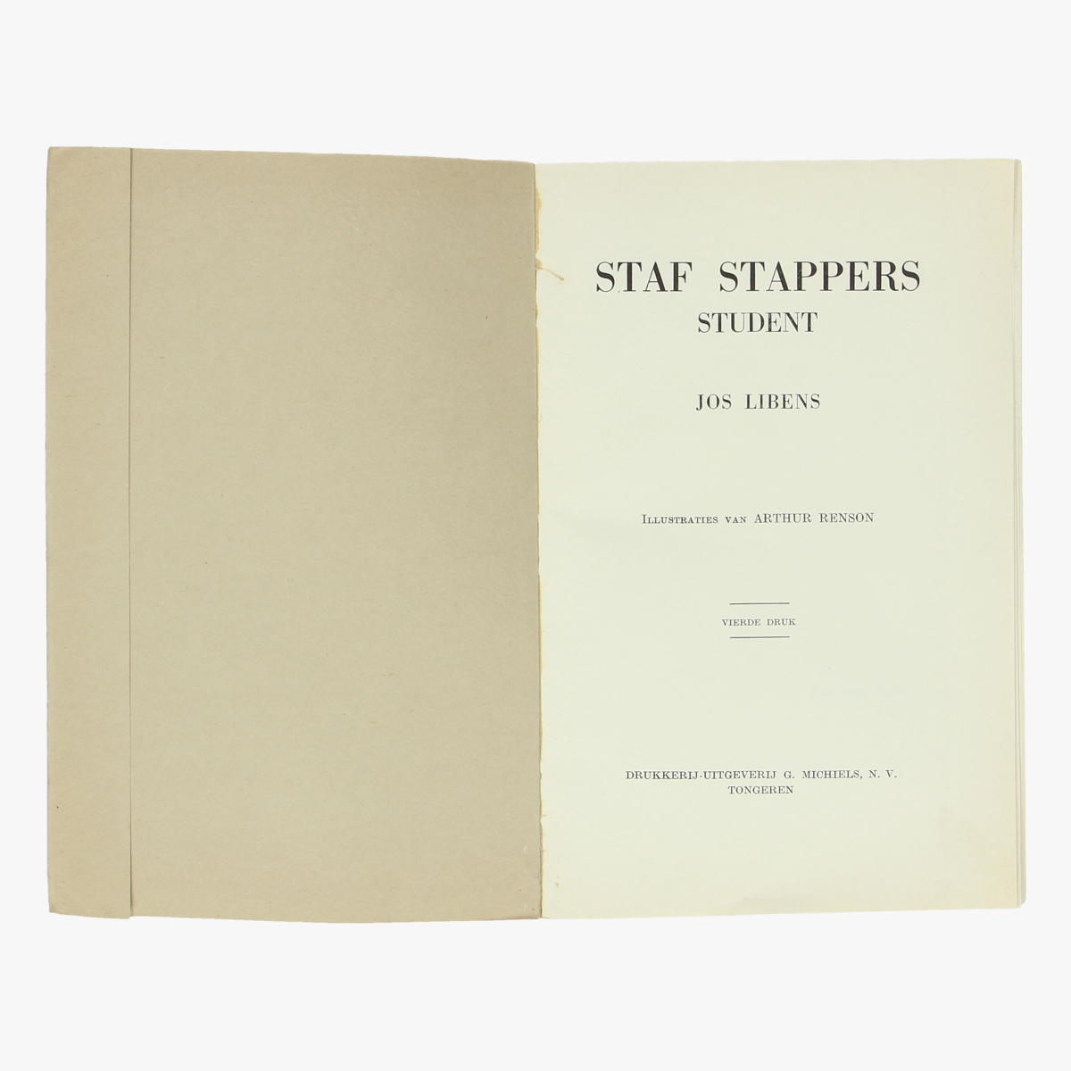 Afbeeldingen van boek staf stappers student door Jos Libens