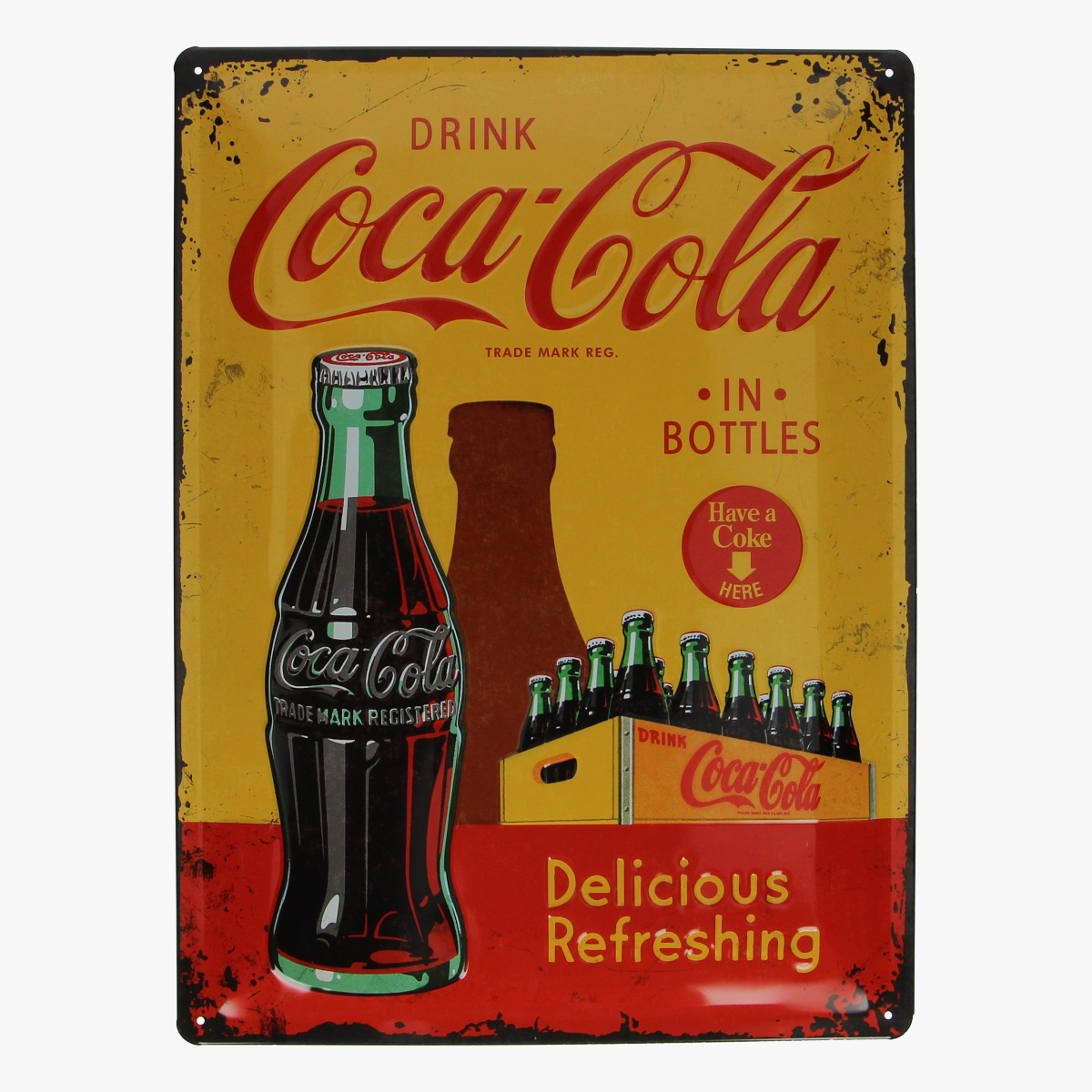 Afbeeldingen van blikken bord coca cola geseald repro