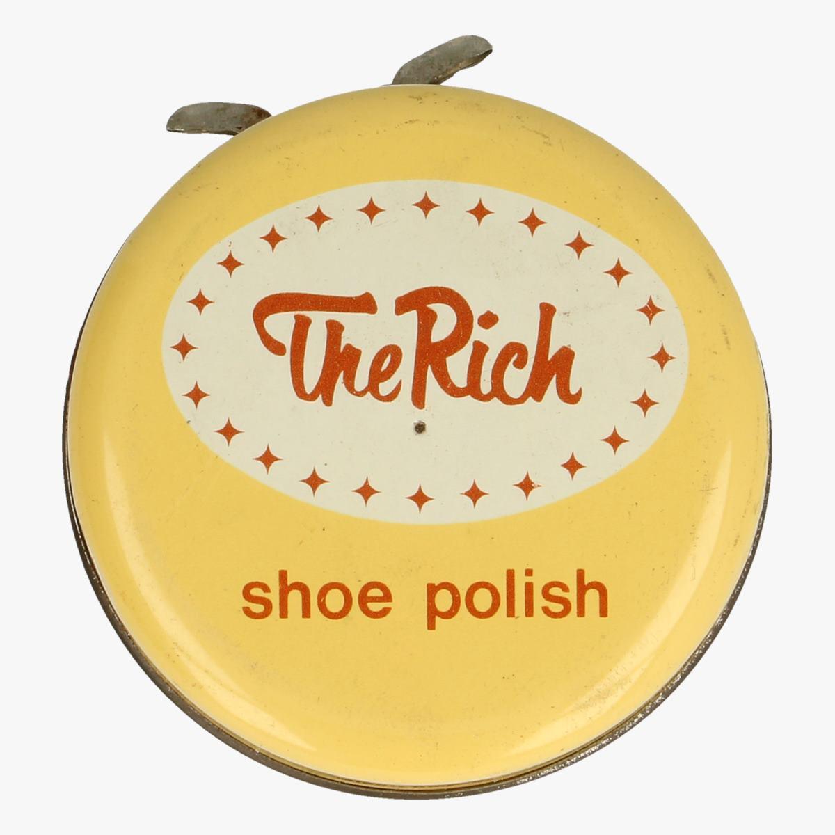 Afbeeldingen van blikken doosje shoe polish the rich middel bruin made in belgium
