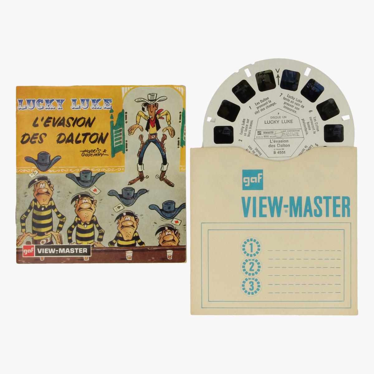 Afbeeldingen van View-Master Lucky Luke. L'evasion des Dalton. Morris&Goscinny. Nr. B-455-F-5/69
