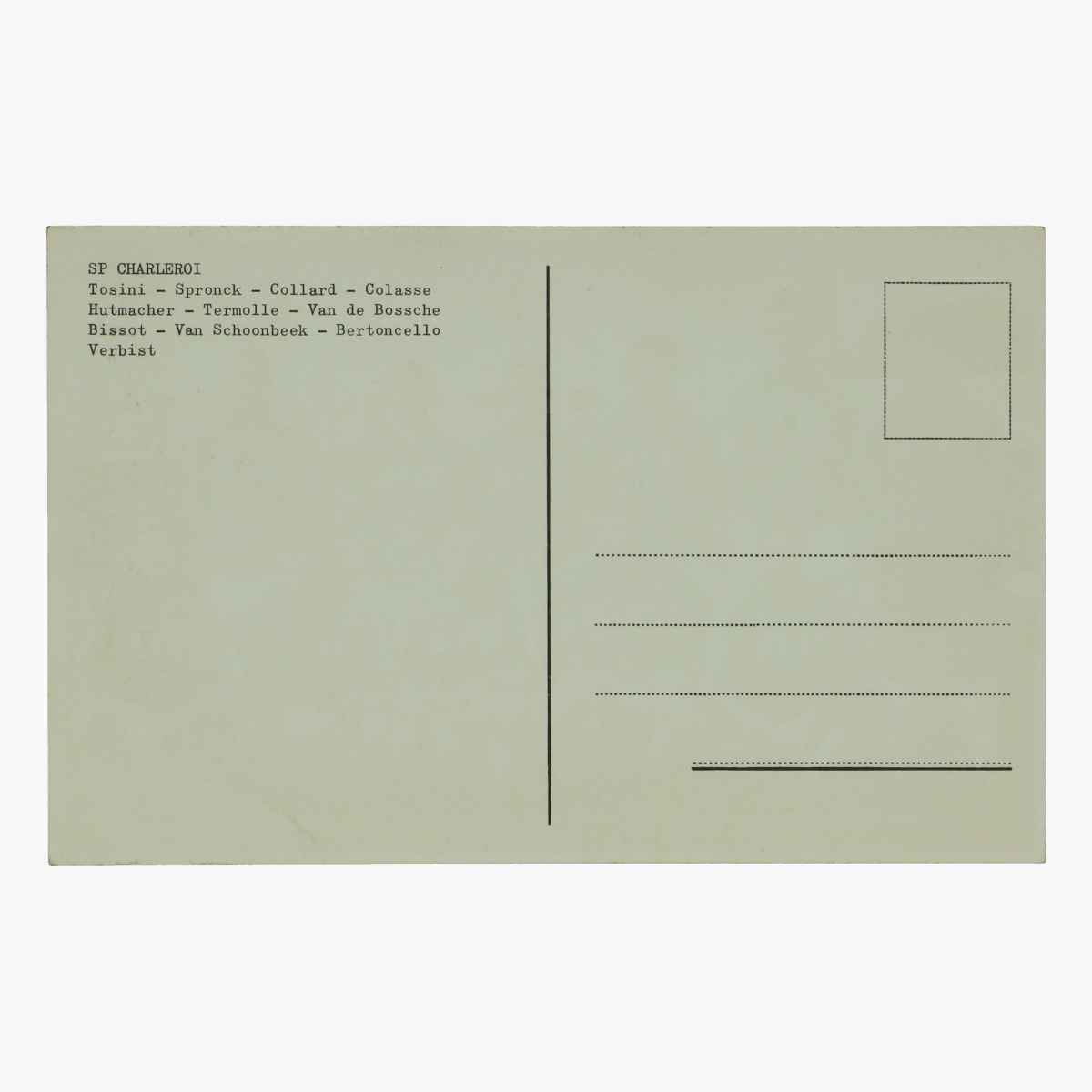 Afbeeldingen van oude postkaart voetbal sp charleroi