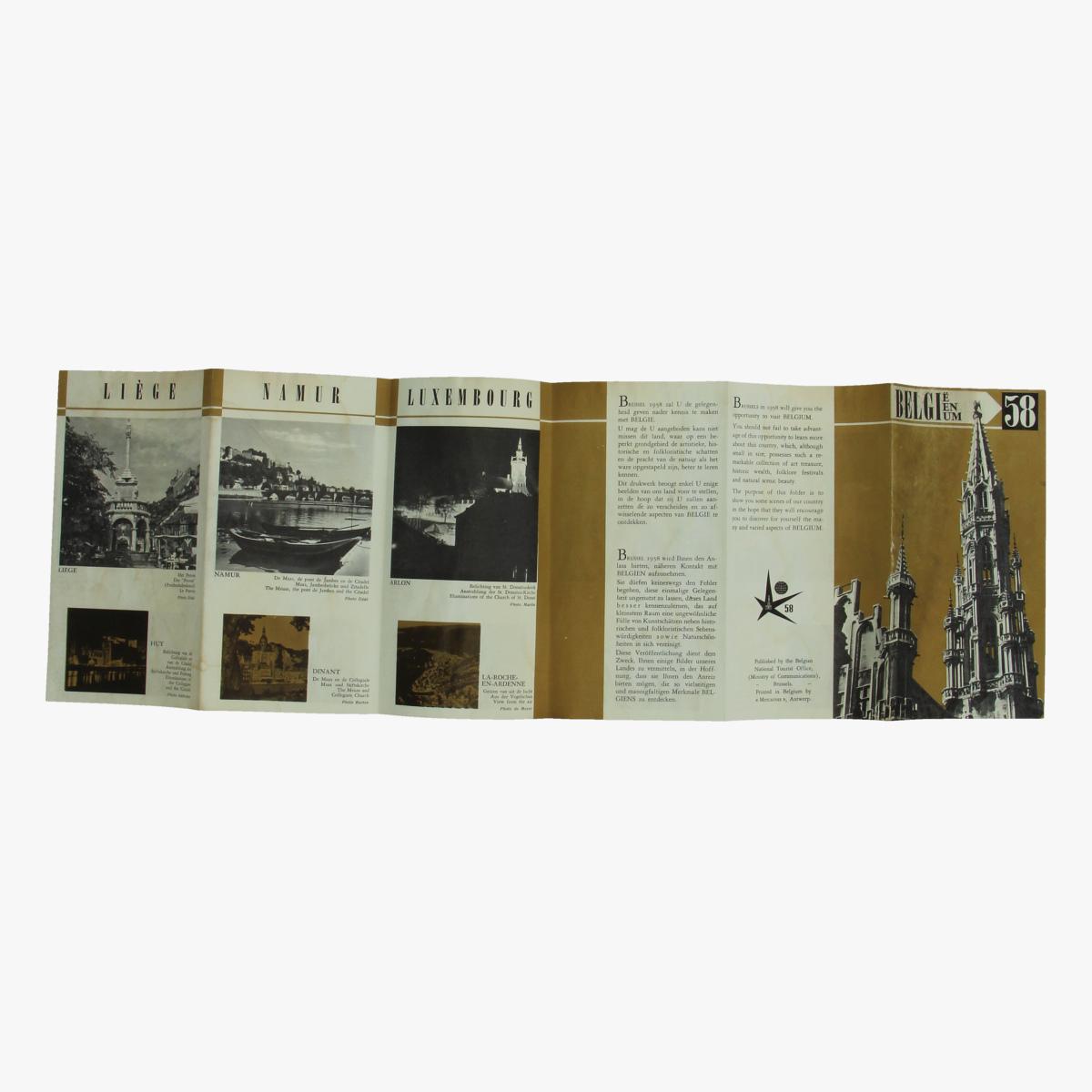 Afbeeldingen van expo 58 flyer belgie