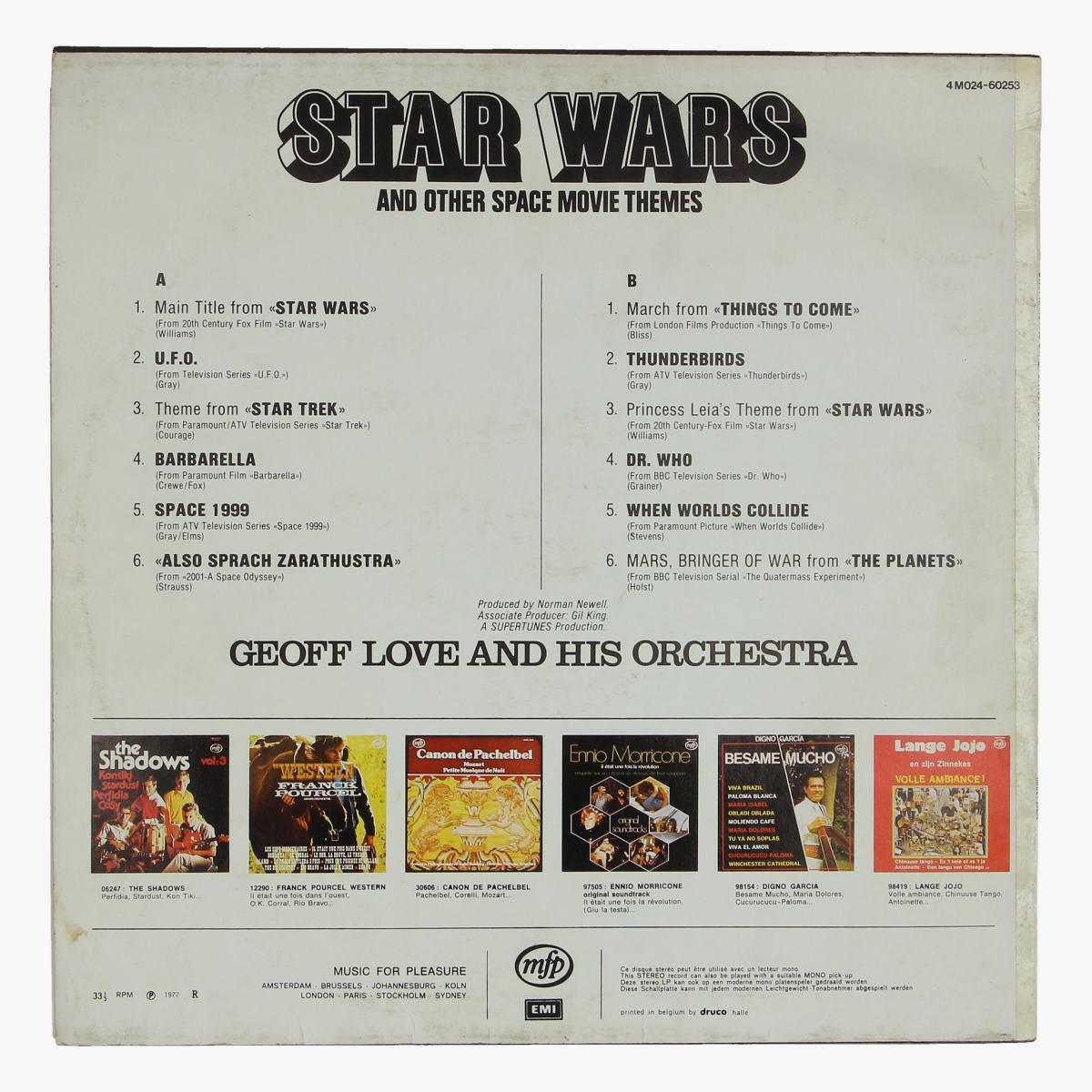Afbeeldingen van star wars lp and other space movie themes 1977
