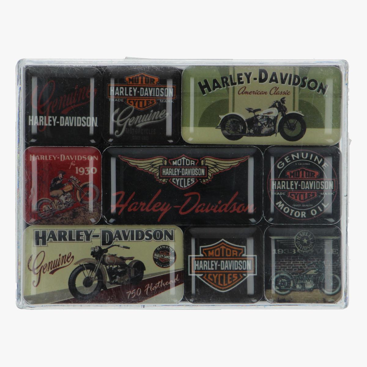 Afbeeldingen van magneetjes Harley-Davidson