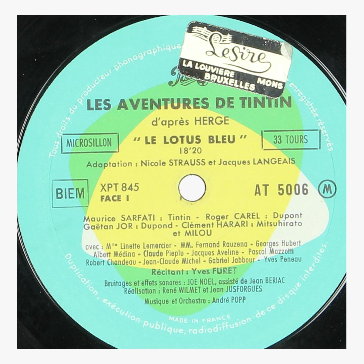 Afbeeldingen van kuifje lp '' le lotus bleu'' tintin hergé 1962 made in france