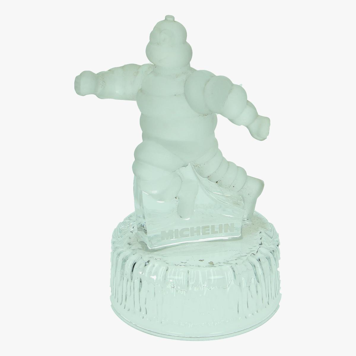 Afbeeldingen van Michelin Beeld in mat glas. Trofee Bibendum.