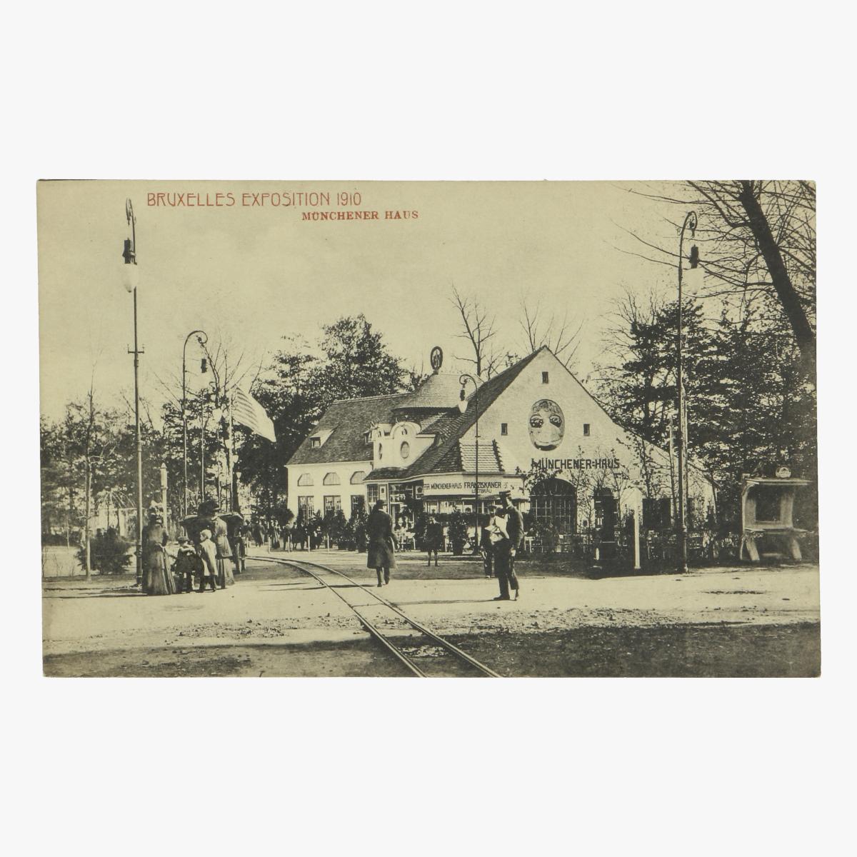 Afbeeldingen van postkaart bruxelles exposition 1910 munchener haus
