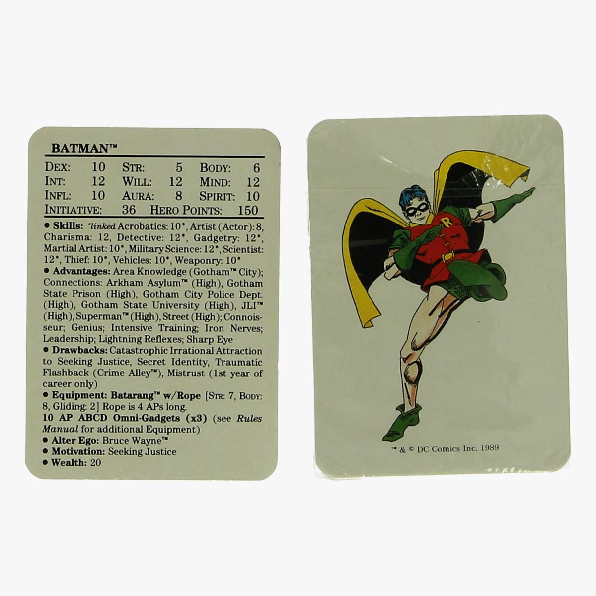 Afbeeldingen van kwartetspel batman 1989