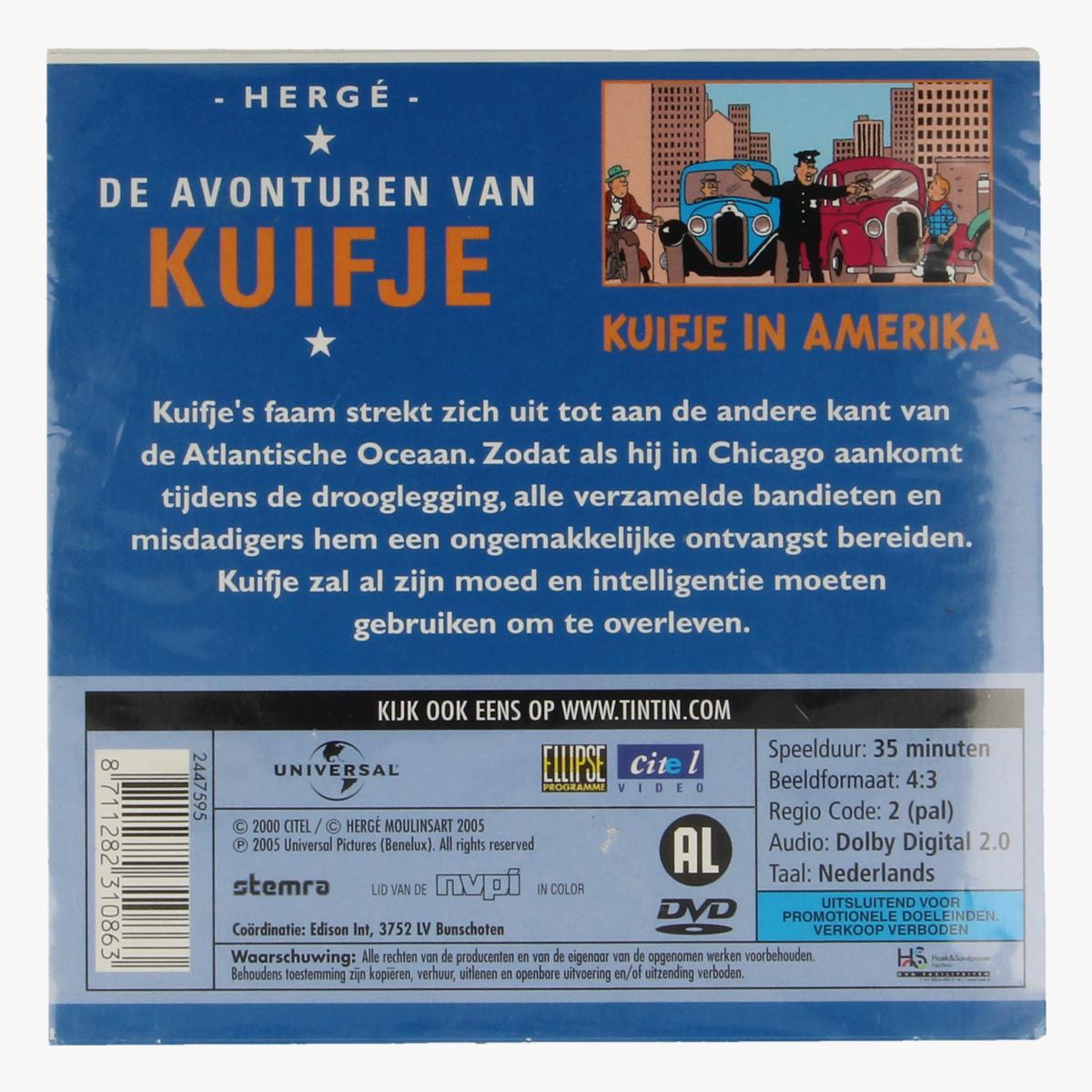 Afbeeldingen van De Avonturen van Kuifje: Kuifje in Amerika DVD