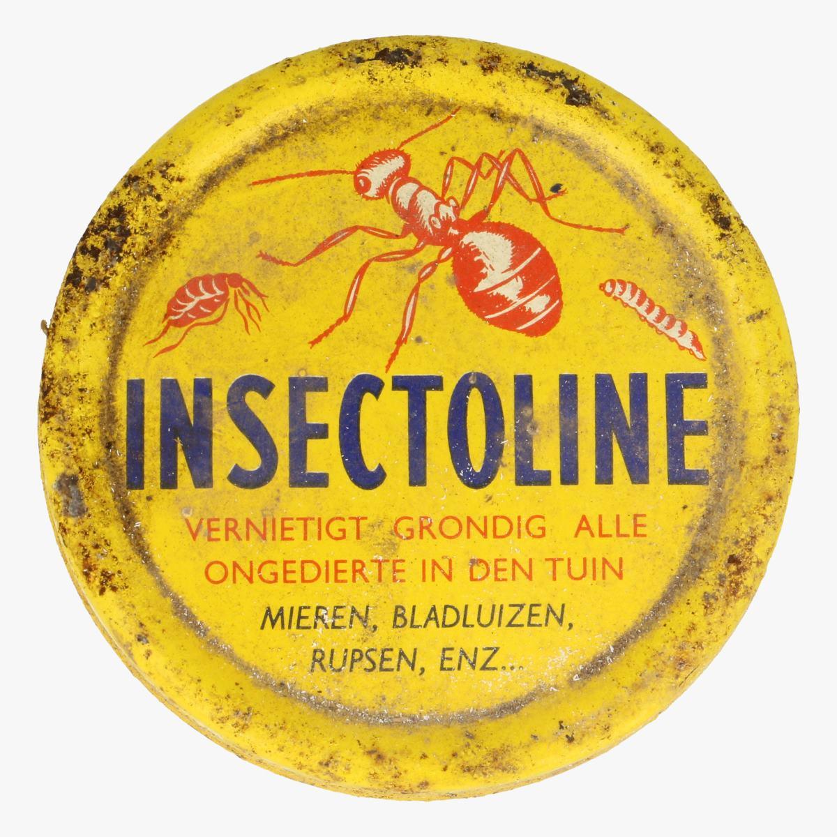 Afbeeldingen van oude blikken doosje insectoline