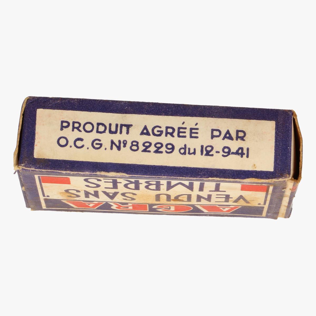 Afbeeldingen van doosje agra zeep van 1941