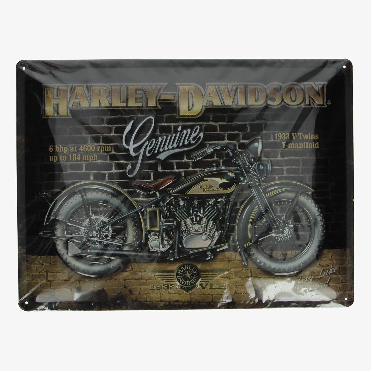 Afbeeldingen van blikken bord Harley-Davidson Genuine repro geseald