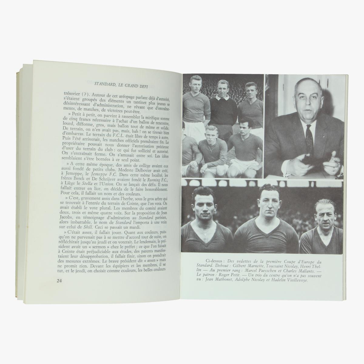 Afbeeldingen van boek voetbal standard le grand defi  r.arets