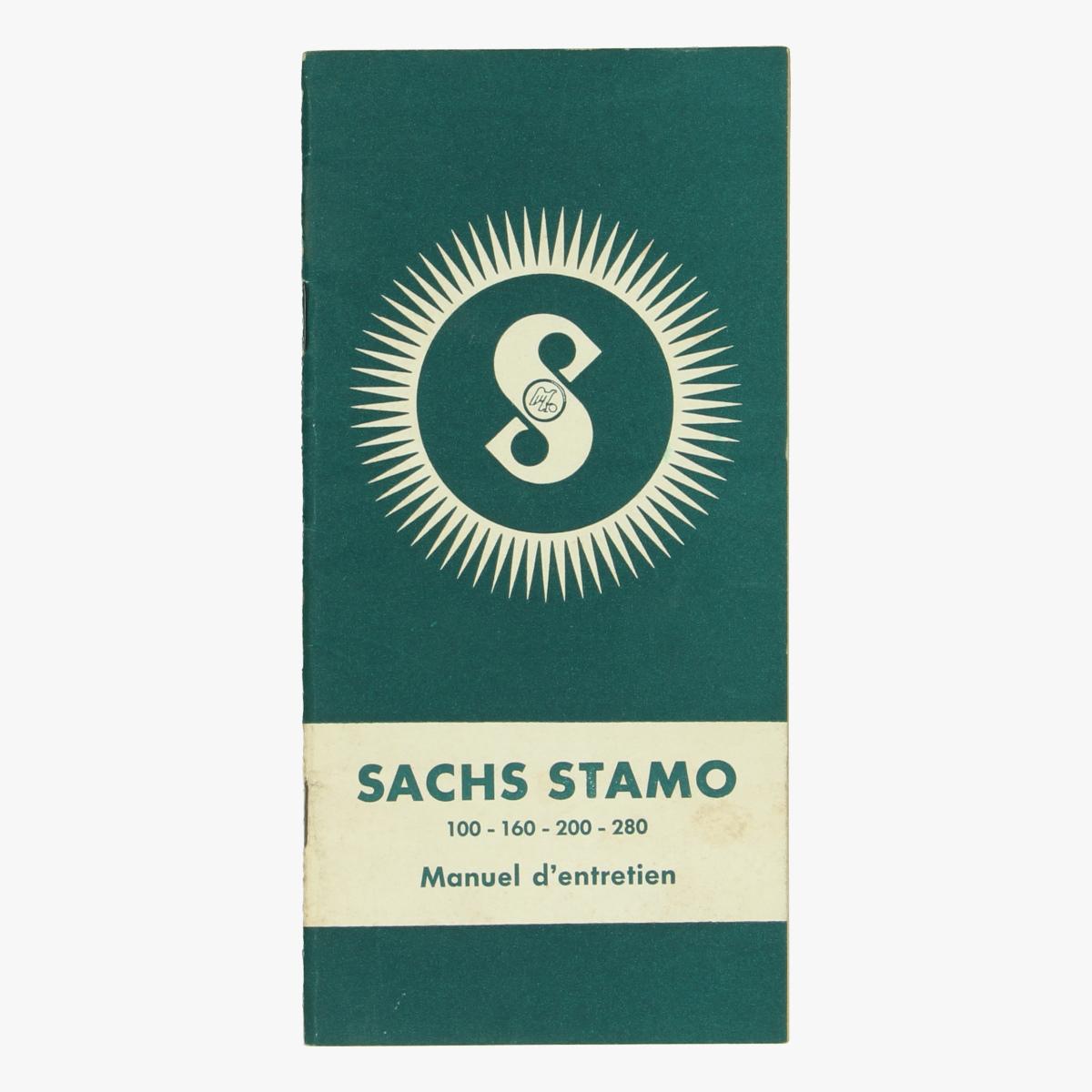 Afbeeldingen van Sachs Stamo. Onderhoudsboek.