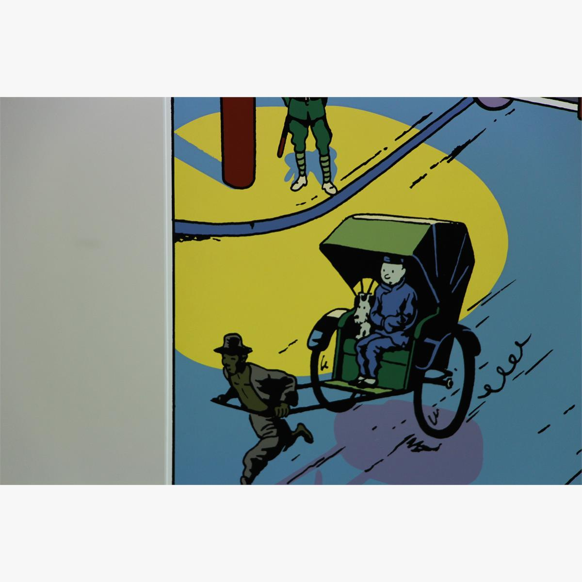 Afbeeldingen van emaille bord kuifje de blauwe lotus uit de blauwe lotus (kuifje in de straten van shanghai) plaque emaillee tintin 1992 tirage 71 ex le lotus blue ''tintin dans les rues de shangaï''