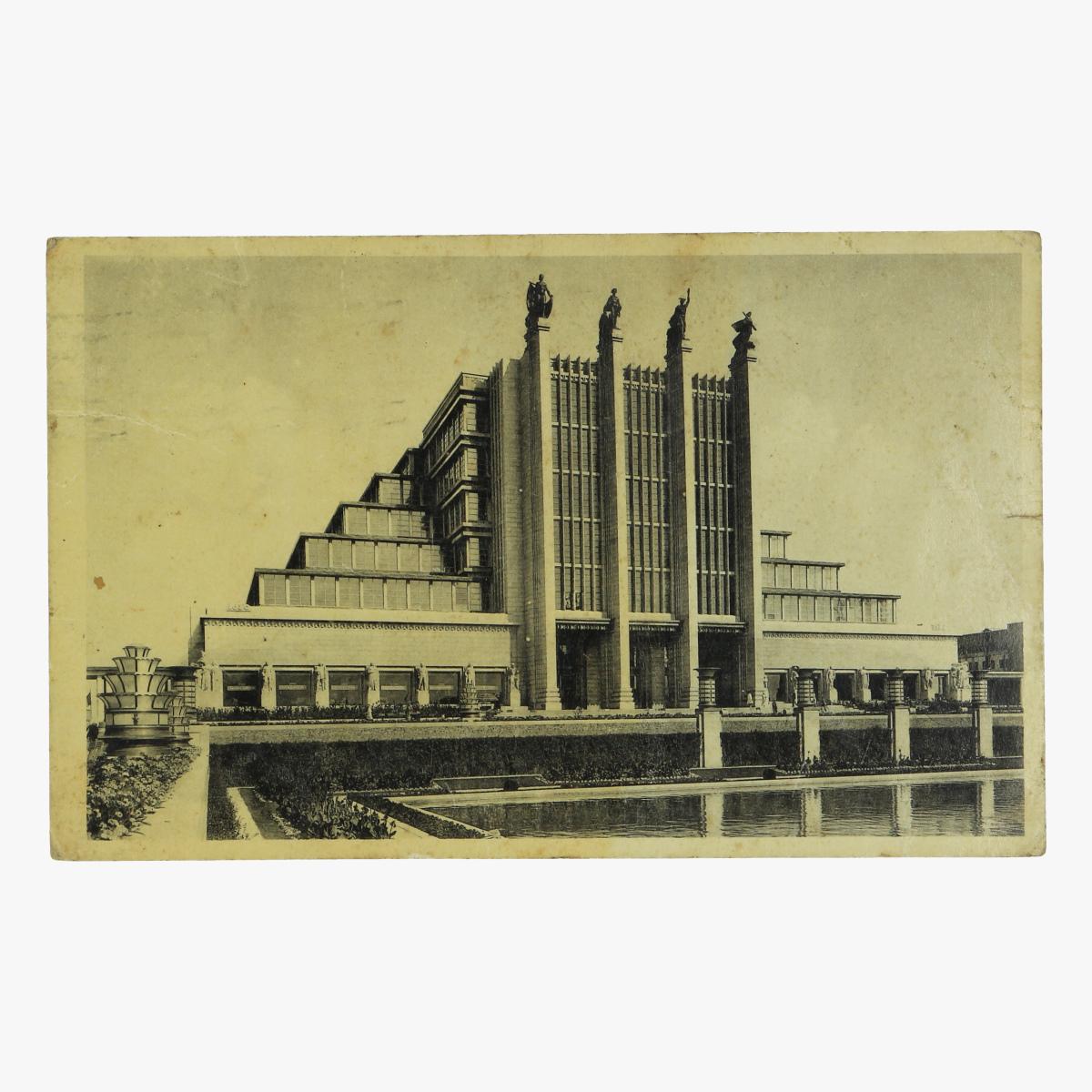 Afbeeldingen van postkaart wereldtentoonstelling 1935 brussel groot paleis