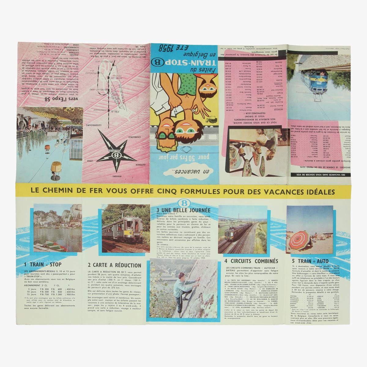 Afbeeldingen van expo 58 folder train-stop (B° 1958°