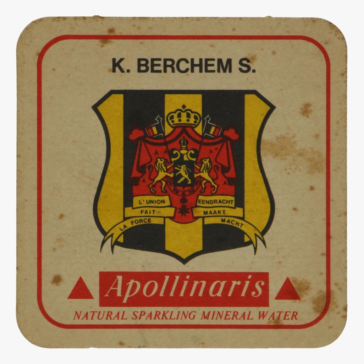 Afbeeldingen van bierkaartje k. berchem s.