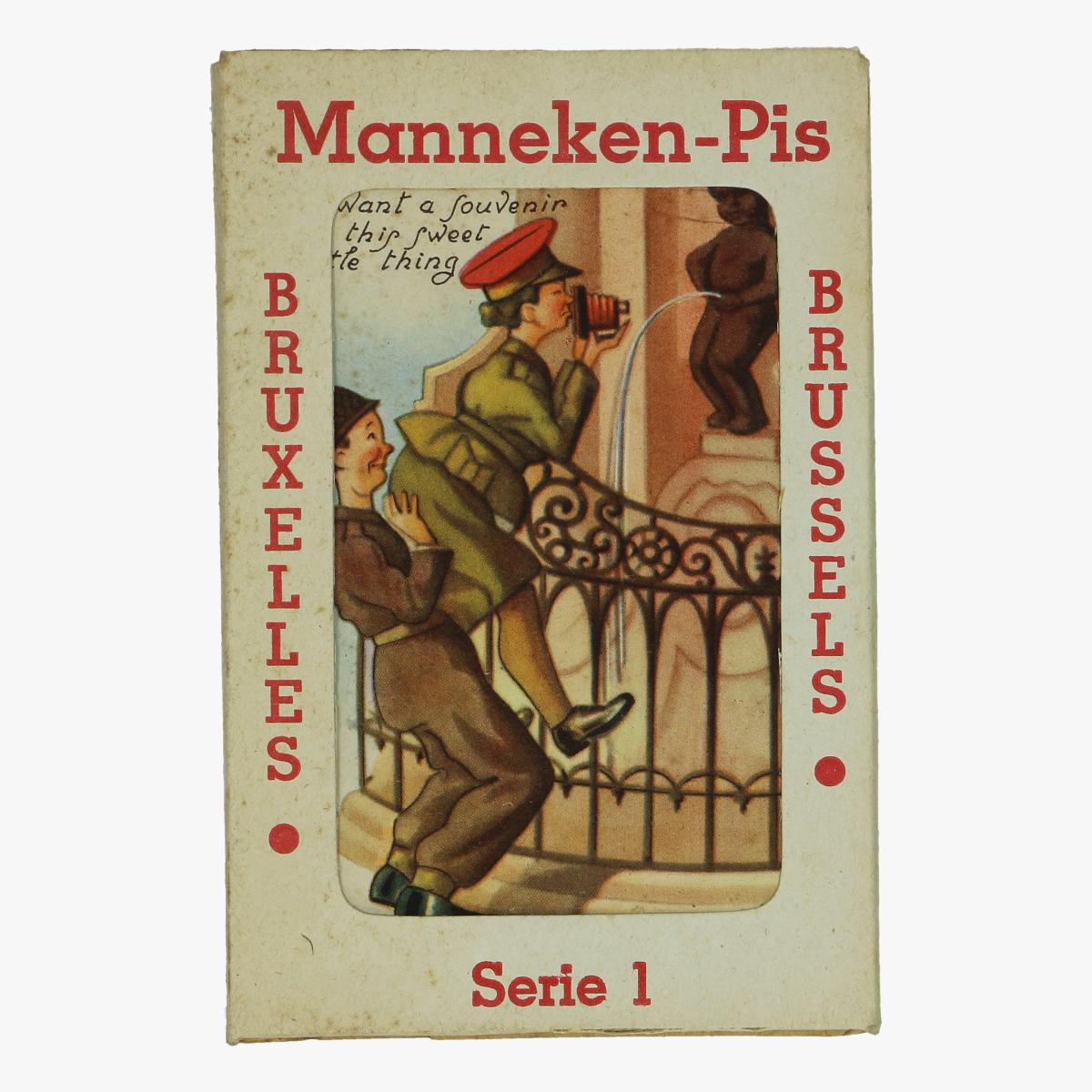 Afbeeldingen van mannekes-pis brusselt postkaarten 10 stuks serie 1
