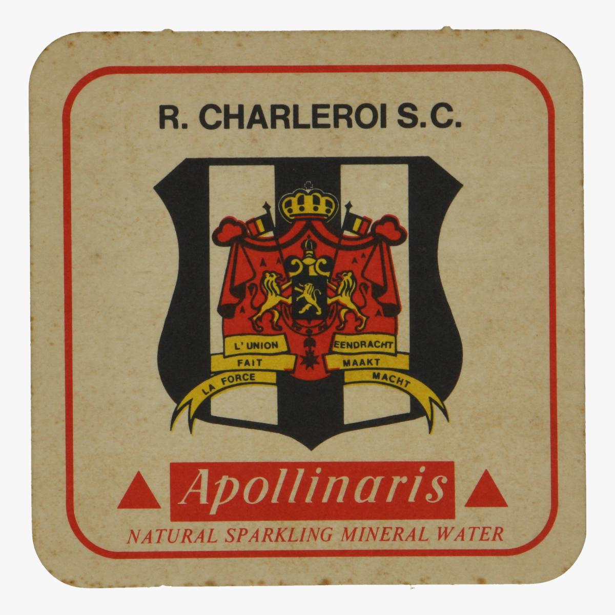 Afbeeldingen van bierkaartje r. charleroi s.c. apollinaris