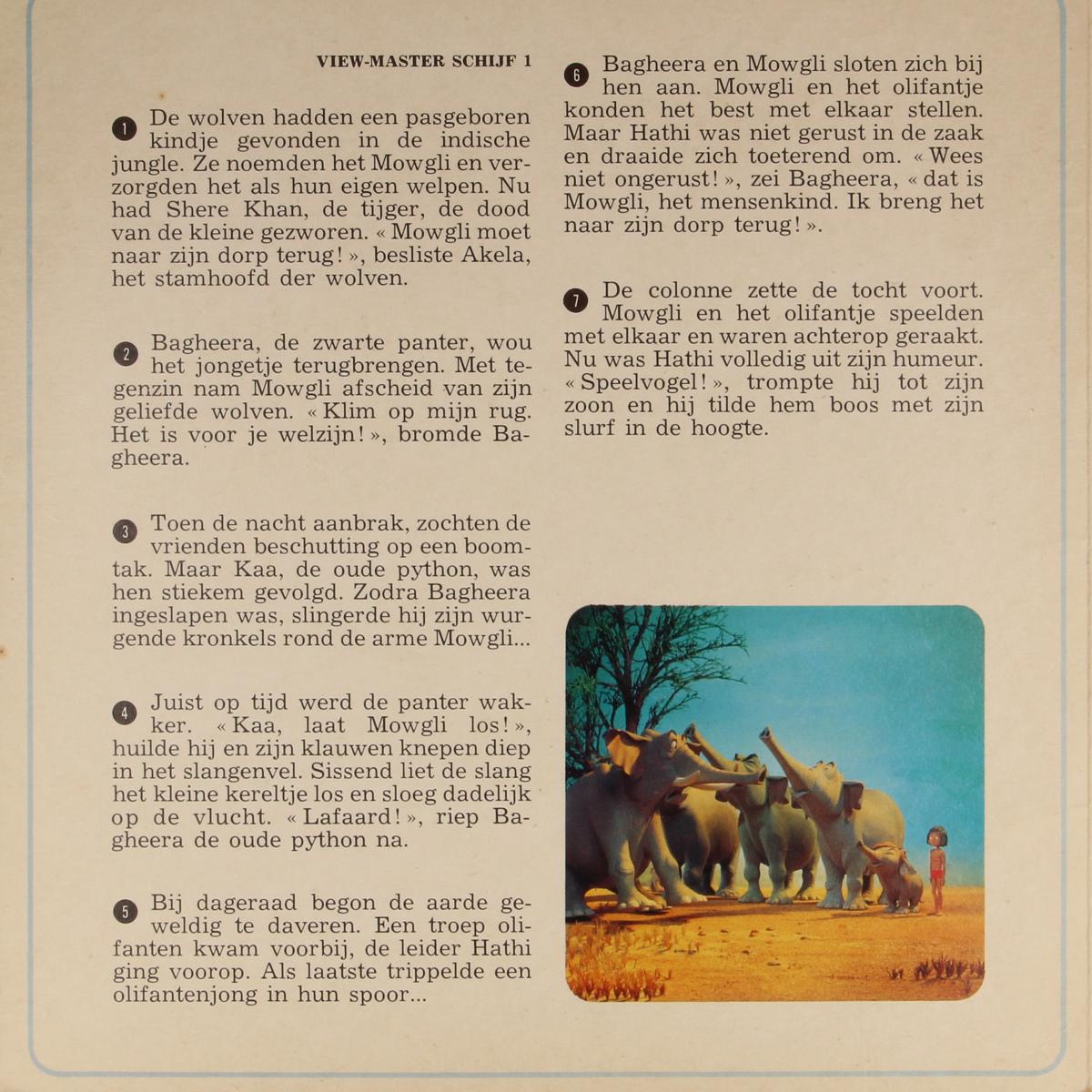 Afbeeldingen van View-master Jungle Book B3631,B3632,B3633