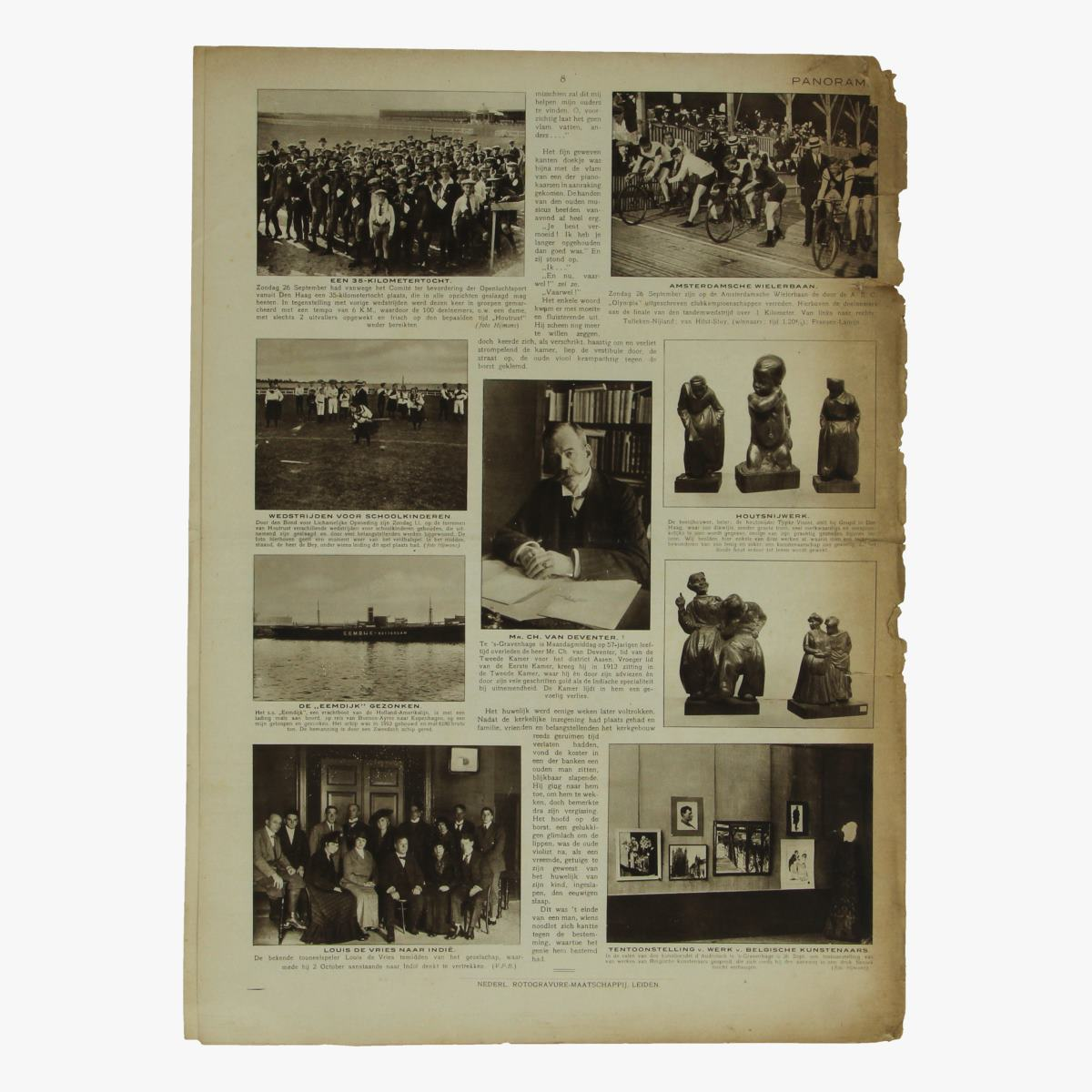 Afbeeldingen van oude weekblad panorama N°79   30 sept. 1915