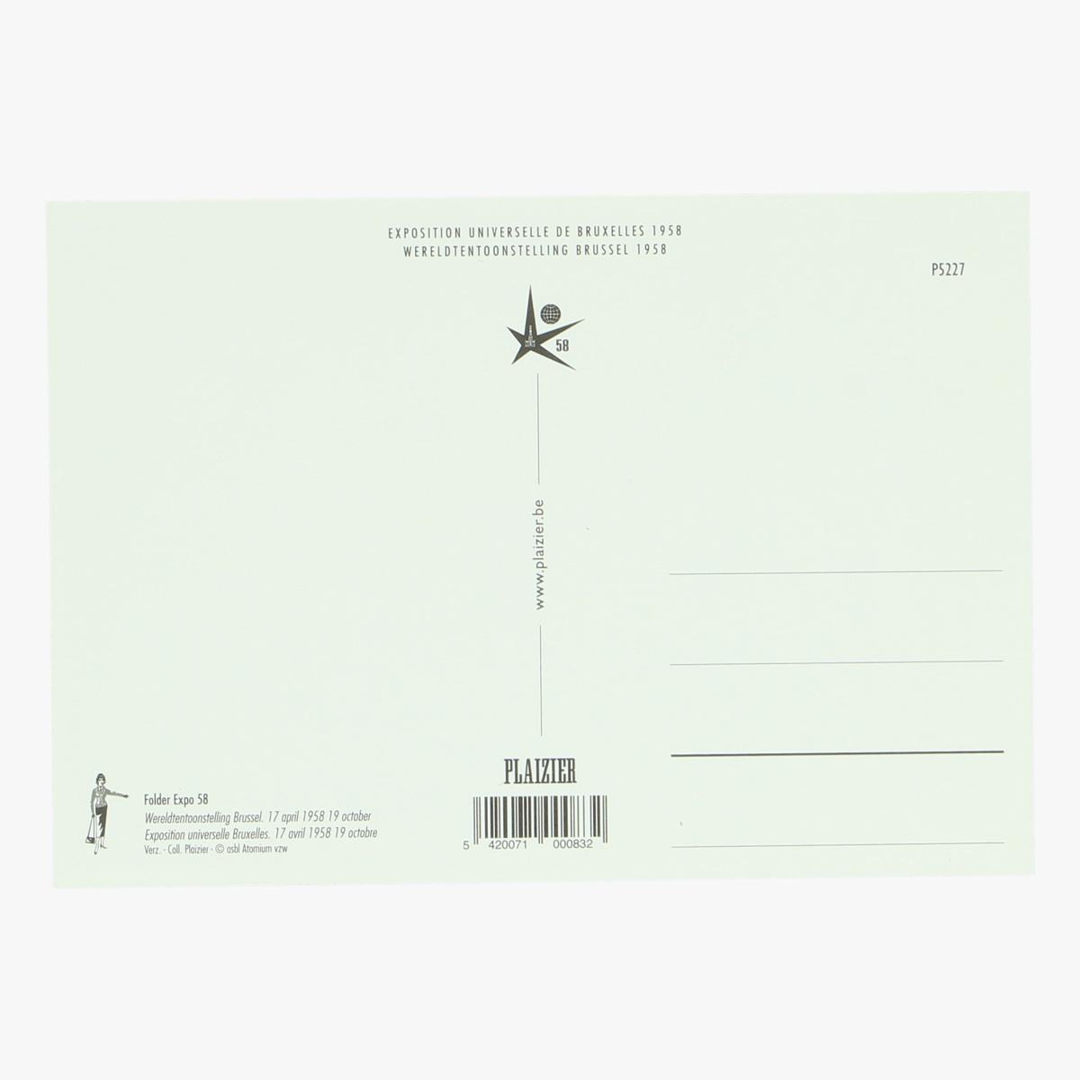 Afbeeldingen van postkaart folder expo 58 repro