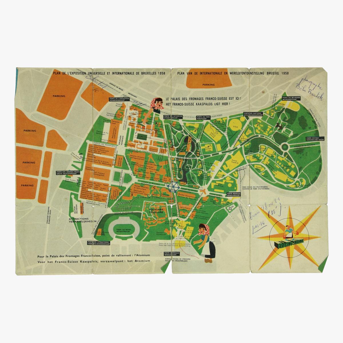 Afbeeldingen van expo 58 flyer palais des fromages franco-suisse grondplan