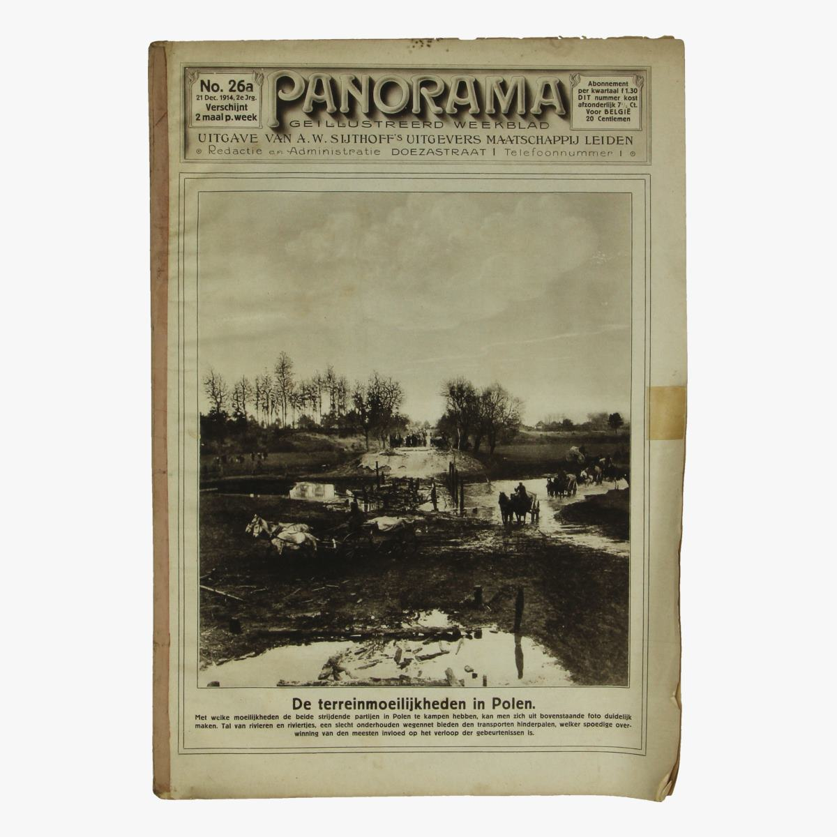 Afbeeldingen van oude weekblad panorama N° 26a 21 dec. 1914.