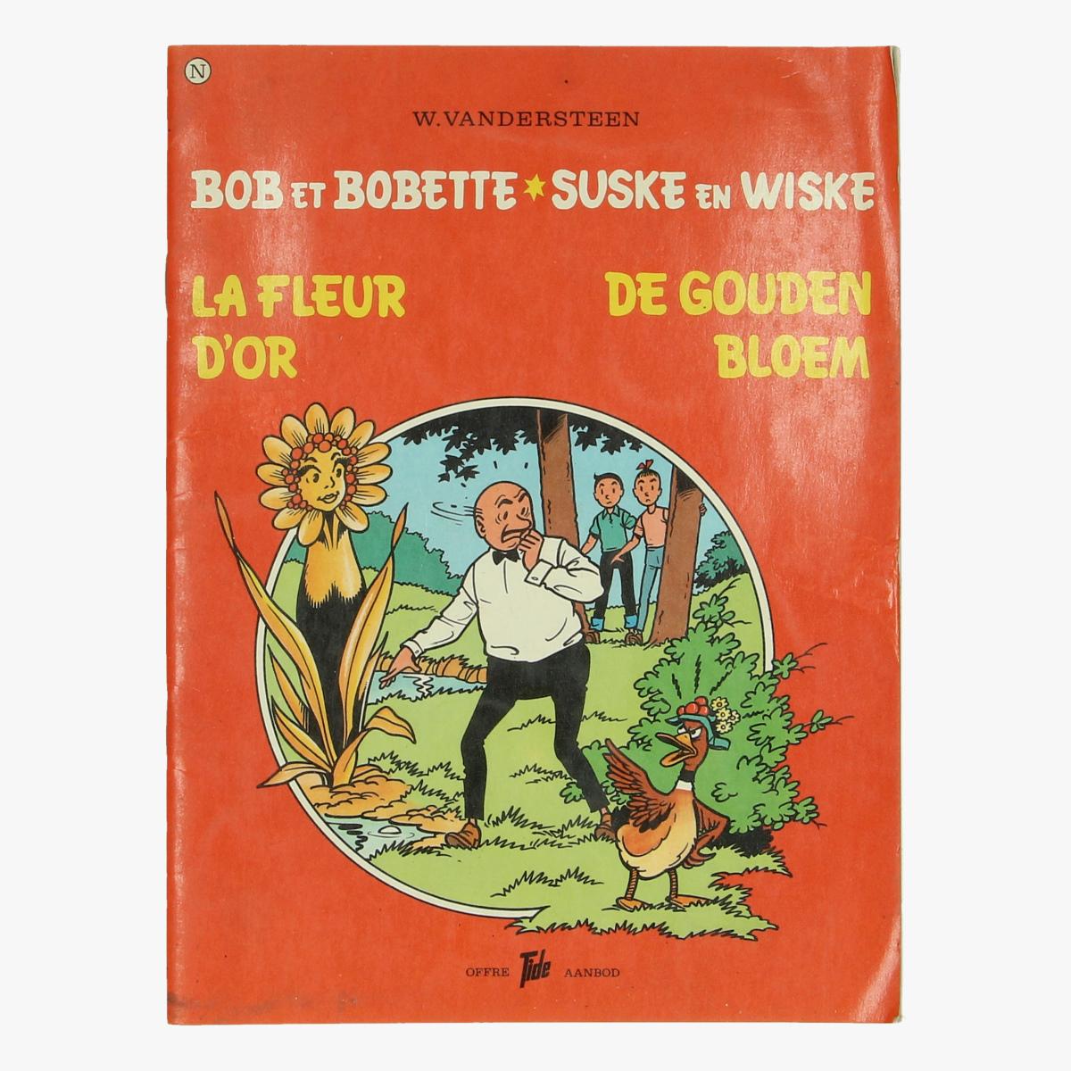 Afbeeldingen van Suske en Wiske De goude bloem nerderlands en franstalig