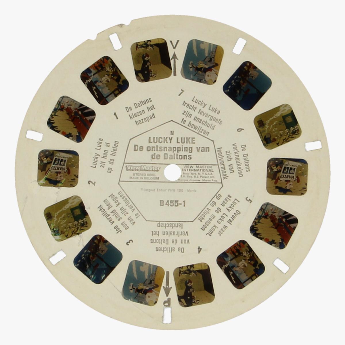 Afbeeldingen van View-Master Lucky Luke. De ontsnapping van de Daltons Nr. B455-1, B455-2, B455-3