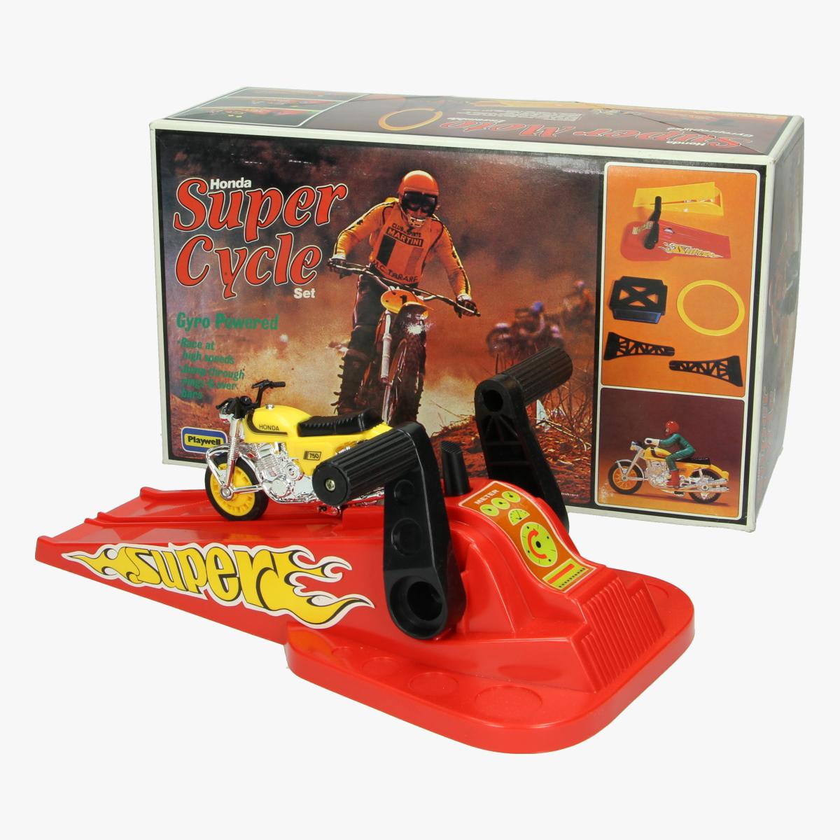 Afbeeldingen van Honda Super Cycle set. Speelgoed. Playwell.