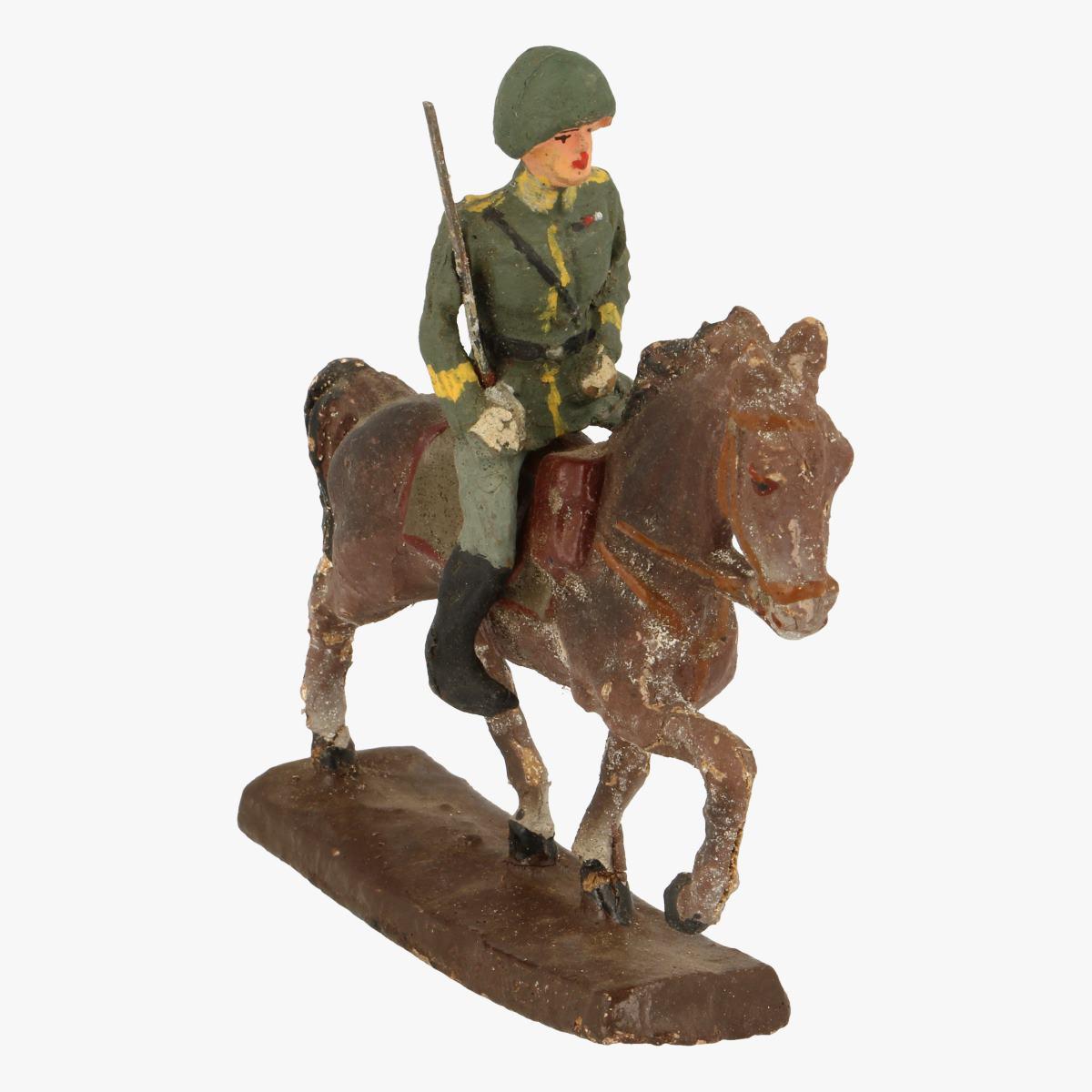 Afbeeldingen van Elastolin soldaatje op paard fabr: Elastolin Germany