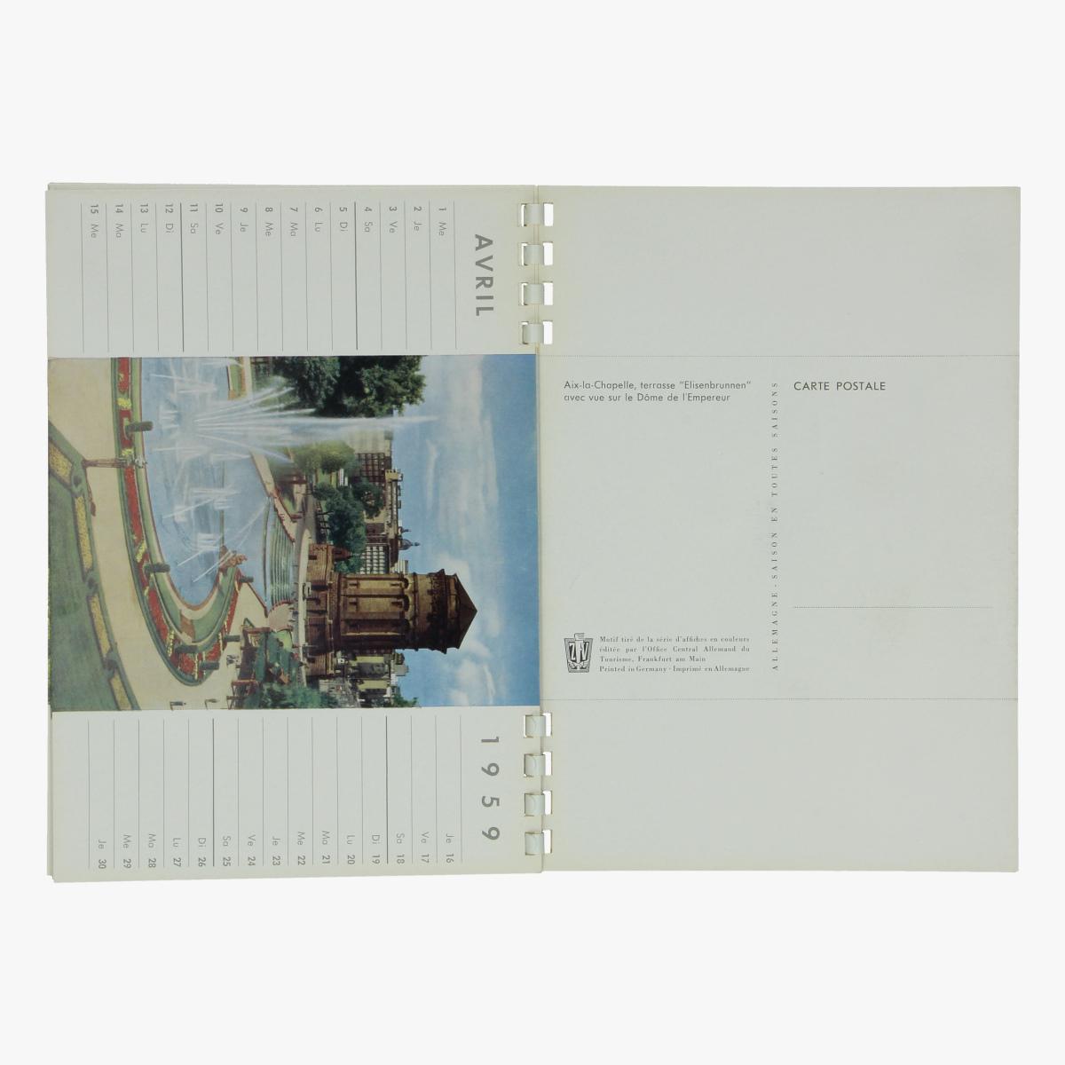 Afbeeldingen van meilleurs voeux pour 1959 - tourisme kalender - postkaarten
